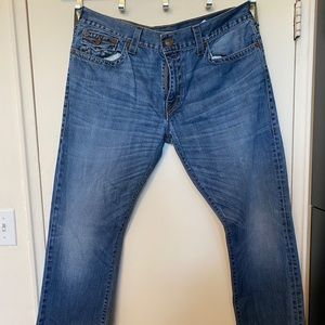 TRUE RELIGION Jeans with Leather Patch